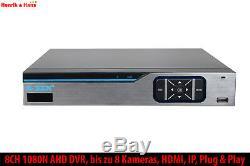 Z-Ben CCTV 8CH 1080N DVR HDMI Video Recorder Videoüberwachung Überwachung 1/2TB