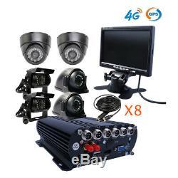 1080n 8ch Gps 4g Hdd Dvr Mdvr Enregistreur Vidéo Cctv Moniteur Caméra Sur Pc Phone