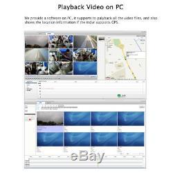 1080p Ahd 4ch Gps 4g 512gb Voiture Dvr Mdvr Enregistrement Vidéo Caméra Cctv Moniteur À Distance