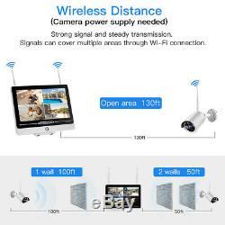 12.5 Wifi Sans Fil De Sécurité Moniteur Intérieur / Extérieur Caméra Cctv Dvr Nvr Enregistreur