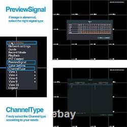 16 Canaux Dvr Enregistreur Hybride Dvr H. 264 Cctv Security Camera System Digital