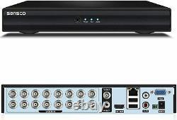 16 Channel Cctv Dvr Enregistreur Hd 1080p 5in1 Vga Hdmi Pour Le Système De Surveillance À Domicile