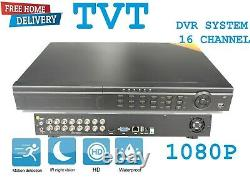 16-ch Channel Hd Tvi 1080p Digital Video Recorder Cctv Security + 1 To Hdd Dvr