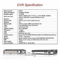 16ch Full Hdmi 1080n H. 264 Accueil Ahd Security Dvr Cctv Caméra Enregistreur Vidéo P2p