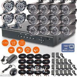 16ch H. 264 Cctv Avr Dvr Enregistreur Vidéo 1200tvl Système De Caméra De Surveillance Extérieur