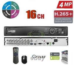 16ch Hdtvi Système Dvr 1080p / 720p Enregistrement, Caméra Hdtvi / Analogique Compatible