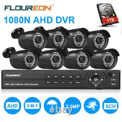 1 To Hdd 8ch 1080p Ahd Dvr Recorder 8xoutdoor 3000tvl Système De Sécurité De La Caméra Cctv