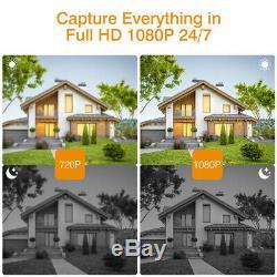 1tb Hdd 1080p Cctv Sans Fil Home Security Système De Caméra Ip Dvr 8ch Enregistreur Nvr