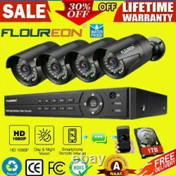 1tb Hdd 8ch 1080n Dvr Enregistreur Cctv 3000tvl 1080p 2mp Kit Système De Caméra De Sécurité