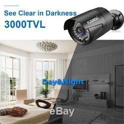 1tb Hdd + Sécurité Cctv 8ch 1080n 3000tvl Dvr Enregistreur Ir Nuit Système Caméras