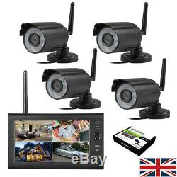 2019 Numérique 4 Caméra Sans Fil Cctv Et 7 '' Moniteur LCD Dvr Enregistrement Home Security