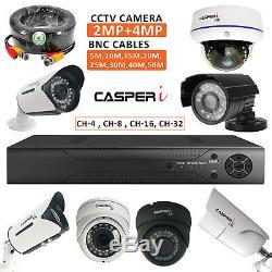 4/8/16/32 Cctv Dvr Multi Channel 1080p Home Office Caméra Vidéo Système De Sécurité