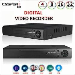 4/8/16/32 Ch Securcctv-enregistreur Vidéo Numérique Tvi, Ahd 1080p Casperi Remote View