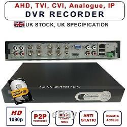 4/8/16 Ch Cctv Enregistreur Vidéo Hd 1080p Nvr Ahd Dvr Tvi CVI Système De Sécurité