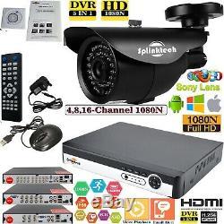 4/8 / 16ch Cctv Dvr 2.4mp Kit De Système De Sécurité Domestique Pour Système De Vidéosurveillance Vidéo De Nuit