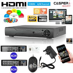 4/8 Chaîne Smart Cctv Dvr Ahd 1080n Video Recorder Motion Hd 1080p Vga Hdmi Bnc