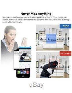 4 Camara De Seguridad Casa Enregistrement Dvr Vision Noche Hd Wifi Inalambric Android