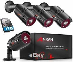 4 Canaux 1080p Accueil Sécurité Système De Caméra Cctv 4ch Dvr Avec Hd 1to