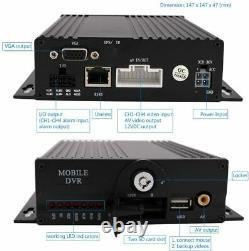 4ch 1080p Ahd 512 Go Sd Car Dvr Mdvr Video Recorder Cctv Système De Moniteur En Temps Réel