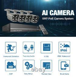 4ch 1920p Dvr Caméra Cctv Home Security System 2way Audio Digital Recorder Royaume-uni