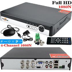 4ch Cctv Dvr 1to Hdd 4x Bullet Security Kit 2.4mp Full Hd 1080p Sony IMX Pour Caméra