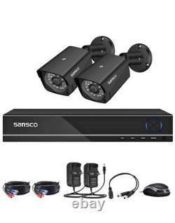 4ch Full Hd Pro Cctv Camera System, 1080p Smart Dvr Recorder + 2x 2mp Caméra Hd