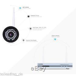 4ch Kit Cctv 1080p Dvr Sans Fil 4x Wifi Wlan 720p Enregistreur Vidéo Kamera Nvr
