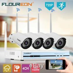 4ch Wireless 1080p Dvr Étanche 720p Ip Cctv Sécurité Nvr Kit Caméra