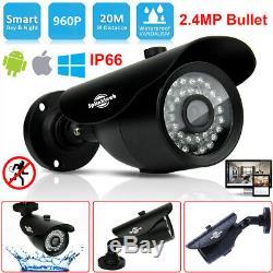4ct Cctv Dvr 5 En 1 & 4x Hd 2.4mp Kit De Caméra Vidéo De Sécurité Bullet 1080p Hdd 1 To