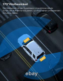 4k 2160p Autokamera Dashcam Dual Lens Auto Dvr Enregistreur Nachtsicht Park Monitor