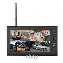 4x Digital Wireless Cctv Camera Avec 7'' LCD Monitor Dvr Record Home Security