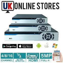 5mp Dvr 4ch 8ch 16ch Dvr Cctv Video Recorder Ahd Tvi Hdmi P2p Home Security