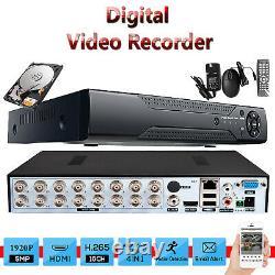 5mp Turbo Cctv Dvr 16 Channel Ahd 1920p Digital Video Recorder Vga Hdmi Bnc Royaume-uni