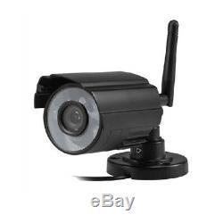 7 Système De Sécurité De Caméra Vidéo Cctv Dvr Dvr Enregistreur De Moniteur LCD Sans Fil