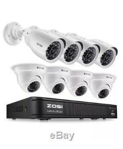 8 Camaras De Sécurité Hd 1080n Vidéo De Seguridad Pour La Maison 8ch + Dvr Enregistreur Cctv