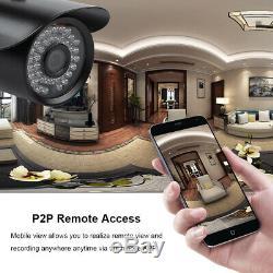 8 Canaux 1080p 5 En1 Cctv Dvr Enregistreur Vidéo Système De Caméra De Sécurité Au Royaume-uni