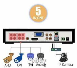 8 Canaux 1080p Lite Hd Dvr Enregistreur Avec Disque Dur 2 To Pour Cctv