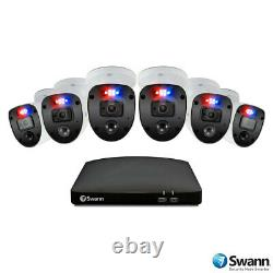 8 Channel 1tb Dvr Recorder Avec 6 X Full Hd Police Style Ligth Enforcer Caméras