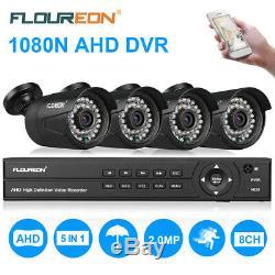 8ch 1080n Ahd Dvr Enregistreur 4x 3000tvl 1080p Extérieur Sécurité Caméra Ip Kit Royaume-uni