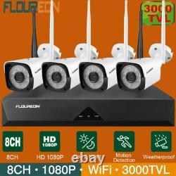 8ch 1080p Hd 3000tvl Dvr Recorder Outdoor Security Cctv Ip Camera Nvr System Kit