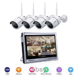 8ch 1080p Wifi Video Recorder Dvr Système Cctv Avec 1080p Caméra + 12 Moniteur LCD