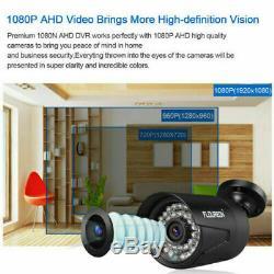 8ch 19201080p Cctv 3000tvl Kit Caméra Avec 1tb Enregistreur Disque Dur Dvr Sécurité