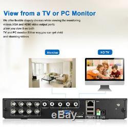 8ch 5in1 Cctv 1080n Dvr Enregistreur Home 3000tvl Système De Caméra De Sécurité Kit D'extérieur