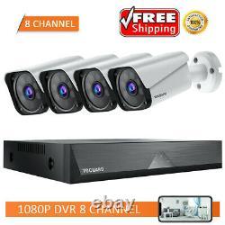 8ch Dvr Enregistreur Cctv Außen Vidéo Überwachungskamera Système Mit 4 1080p Caméras