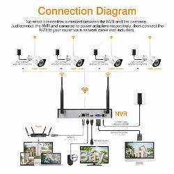 8ch Hd Sans Fil Wifi 19201080p Cctv Nvr Dvr Caméras Ip Recorder Système De Sécurité