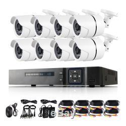 8ch Hdmi 1080p Dvr Nvr Cctv 8x 2000tvl Caméra Système D'enregistrement Numérique De Sécurité