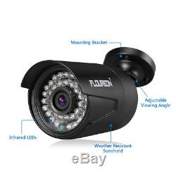 8ct Kit De Vidéosurveillance Pour Système De Vidéosurveillance 1080p 3000tvl Système De Sécurité À Domicile 1tb