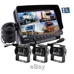 9 Caméra De Recul De Système De Caméra De Vue Arrière De Voiture De Télévision En Circuit Fermé D'enregistreur De Moniteur Dvr Pour Le Camion