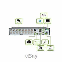 Abowone 16 Canaux Dvr Enregistreur Hybride H. 264 Système De Caméra De Sécurité Cctv Numérique