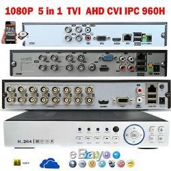 Ahd Tvi 960h 4/8/16 Canal 1080p Dvr Magnétoscope Hd Réseau P2p Nuage Hdmi